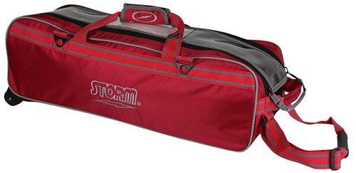 Storm 3 Ball Tournament Travel Roller/Tote Red Main Image