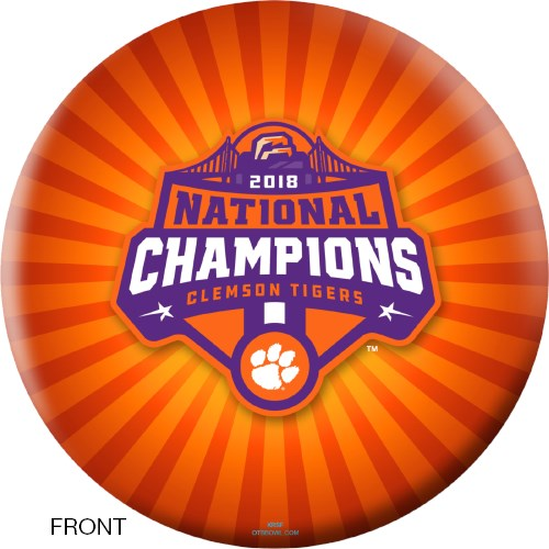 OnTheBallBowling 2018 NCAA National Champions Clemson Tigers Ball Main Image