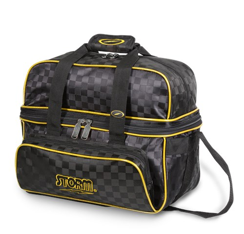 Storm 2 Ball Deluxe Tote Checkered Black/Gold Main Image