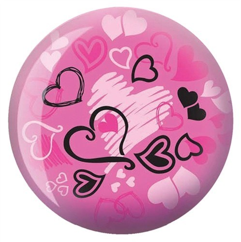 Brunswick Hearts Glow Pink Viz-a-Ball-ALMOST NEW Main Image