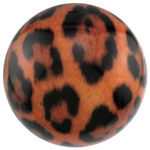 Brunswick Leopard Print Viz-A-Ball-ALMOST NEW-DRILLED Main Image