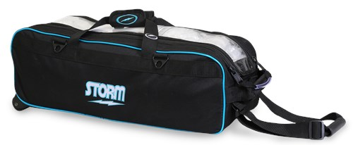 Storm 3 Ball Tournament Travel Roller/Tote Black/Blue Main Image
