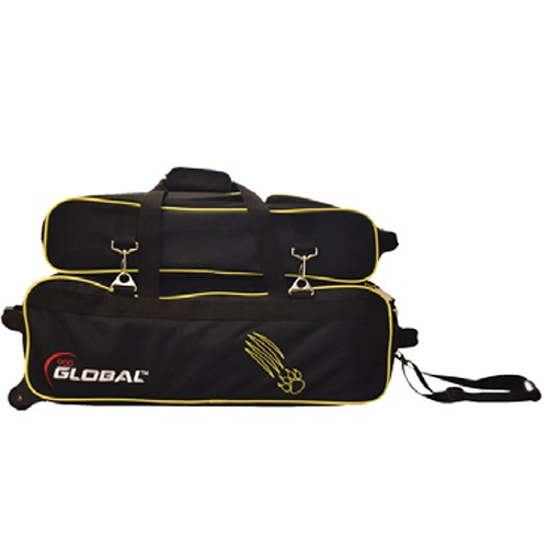 900Global Airline Triple Tote/Roller Black/Gold Claw Main Image