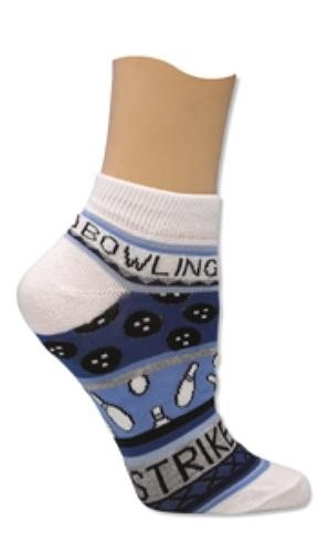 Master Ladies Blue Bowling Theme Socks Main Image
