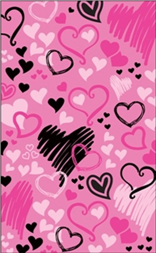 Brunswick Pink Hearts All Over Towel Main Image