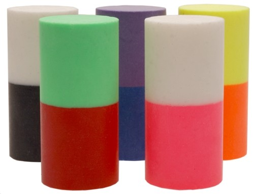 Turbo Duo-Color Urethane Thumb Solids Pink/White Main Image
