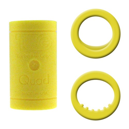 Turbo Grips Quad2 Yellow Inserts Main Image
