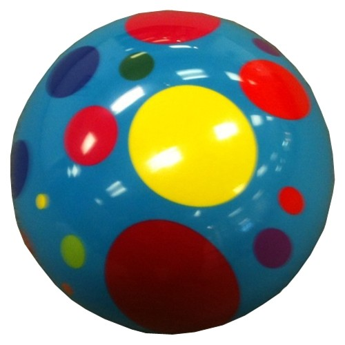 Exclusive Turquoise Polka Dot Viz-A-Ball Main Image