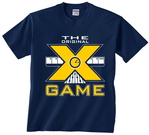 Exclusive bowling.com Original X Game TShirt Navy Main Image