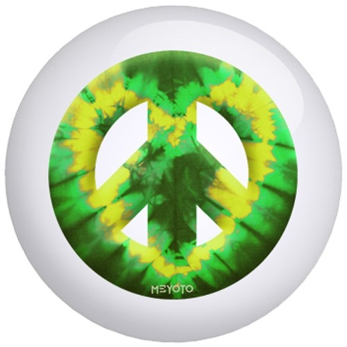 OnTheBallBowling Meyoto Green Yellow Heart Tie Dye Main Image