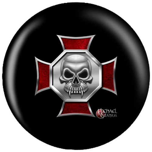 OnTheBallBowling Michael Graham Design Iron Cross Skull Main Image