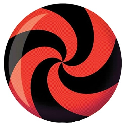 Brunswick Spiral Red/Black Glow Viz-A-Ball Main Image