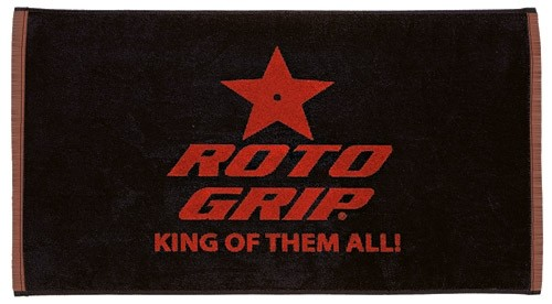 Roto Grip Woven Towel Black/Red Main Image