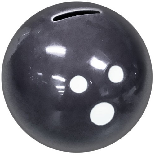 Ceramic Bowling Ball Bank-Black Main Image