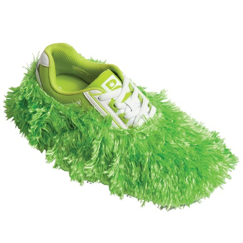 Brunswick Fun Shoe Covers Fuzzy Lime Main Image