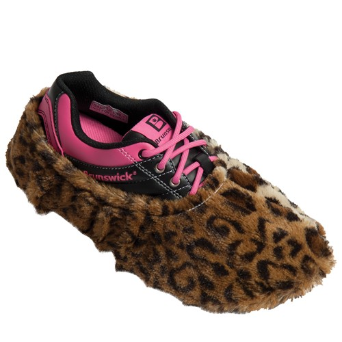 Brunswick Fun Shoe Covers Fuzzy Leopard Main Image