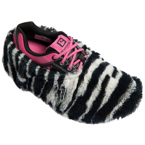 Brunswick Fun Shoe Covers Fuzzy Zebra Main Image