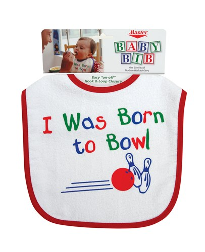 Master Born to Bowl Bib Main Image