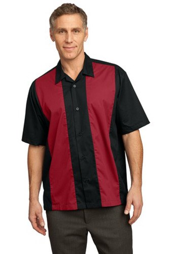 Port Authority Retro Camp Shirt | Black/Red