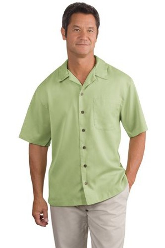 Port Authority Mens Easy Care Camp Shirt Celery Main Image