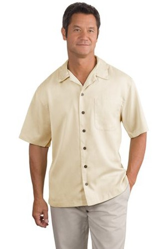 Port Authority Mens Easy Care Camp Shirt Ivory Main Image