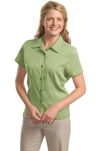 Port Authority Womens Easy Care Camp Shirt Celery Main Image