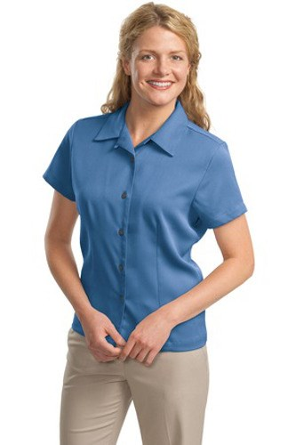 Port Authority Womens Easy Care Camp Shirt Blue Main Image