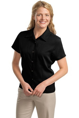 Port Authority Womens Easy Care Camp Shirt Black Main Image