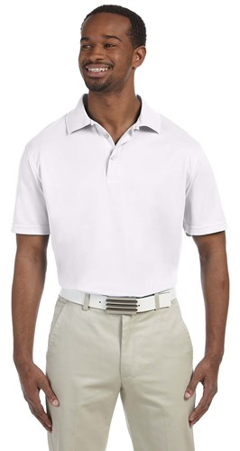 Harriton Mens 4oz Polytech Polo Shirt | White