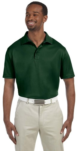 Harriton Mens 4 oz Polytech Polo Green Main Image