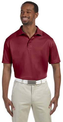 Harriton Mens 4 oz Polytech Polo Maroon Main Image