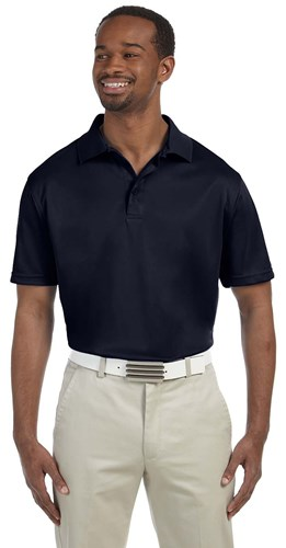 Harriton Mens 4 oz Polytech Polo Navy Main Image