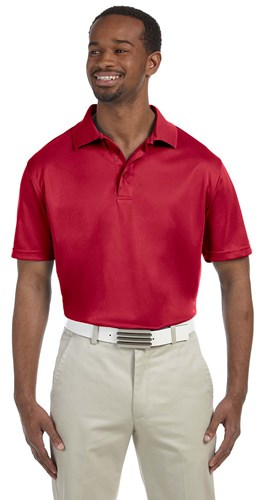 Harriton Mens 4 oz Polytech Polo Red Main Image