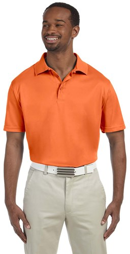 Harriton Mens 4 oz Polytech Polo Orange Main Image