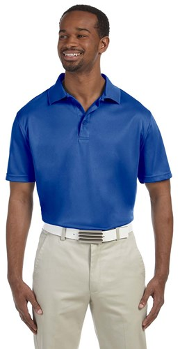 Harriton Mens 4 oz Polytech Polo Royal Main Image