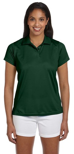 Harriton Womens 4 oz Polytech Polo Green Main Image