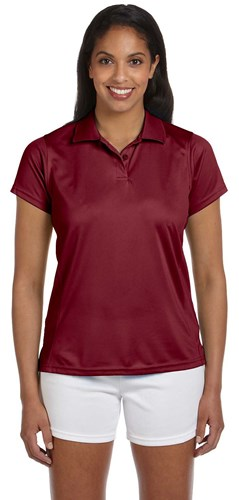 Harriton Womens 4 oz Polytech Polo Maroon Main Image