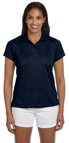 Harriton Womens 4 oz Polytech Polo Navy Main Image