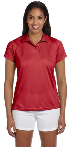 Harriton Womens 4 oz Polytech Polo Red Main Image