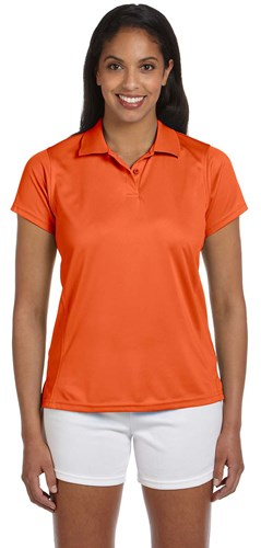 Harriton Womens 4 oz Polytech Polo Orange Main Image