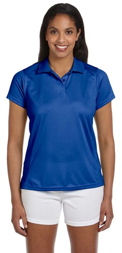 Harriton Womens 4 oz Polytech Polo Royal Main Image