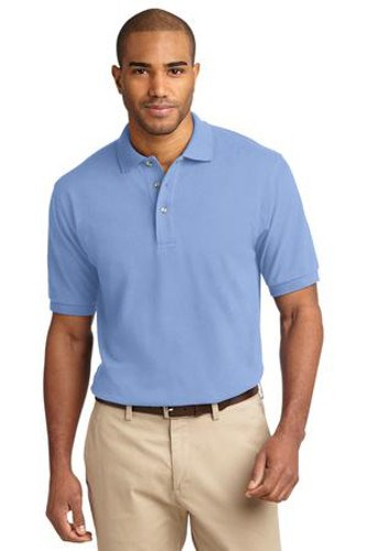 Port Authority Mens Pique Knit Sport Light Blue Main Image