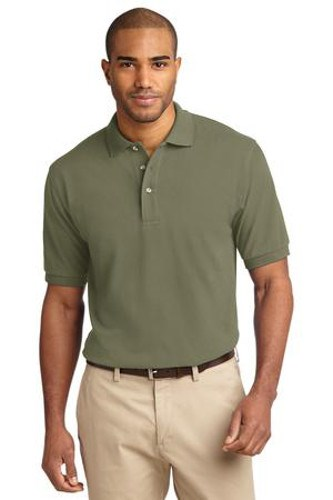 Port Authority Mens Pique Knit Sport Faded Olive Main Image