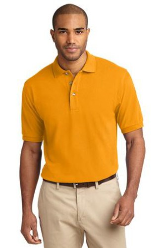 Port Authority Mens Pique Knit Sport Athletic Gold Main Image