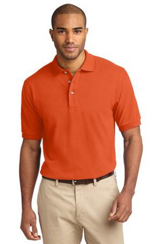 Port Authority Mens Pique Knit Sport Orange Main Image