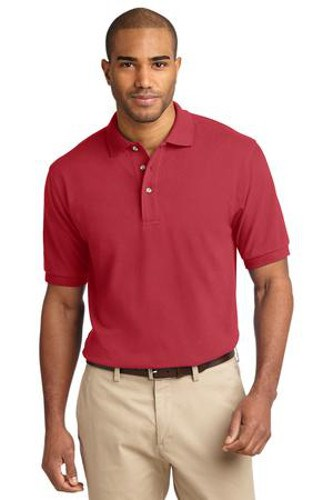Port Authority Mens Pique Knit Sport Sunset Red Main Image