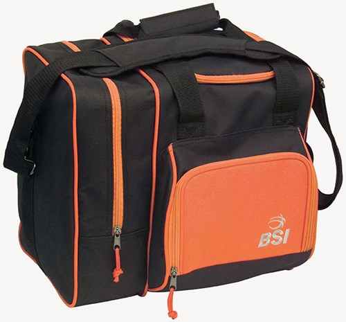 BSI Deluxe Single Tote Black/Orange Main Image