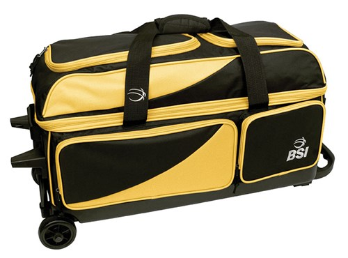 BSI Prestige Triple Roller Black/Yellow Main Image