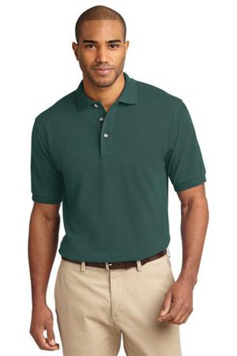 Port Authority Mens Pique Knit Sport Dark Green Main Image