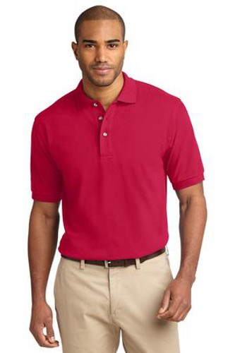 Port Authority Mens Pique Knit Sport Red Main Image
